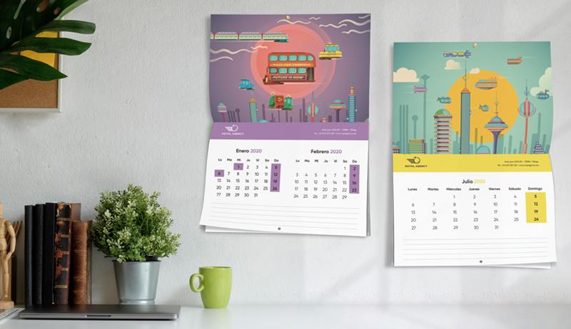 calendarios en la pared, un dia mas